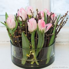 tulpen dekoration tisch - Sturm Witzig Flowers Deliver yourself a career so far, in which you can ma Easter Flower Arrangements, Easter Flowers, Diy Flowers, Fresh Flowers, Spring Flowers, Floral Arrangements, White Flowers, Ikebana, Spring Decoration