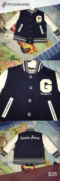 ♣️Guess baby boy jacket♣️ Brand new 12 M guess jacket for baby boy Guess Jackets & Coats Puffers