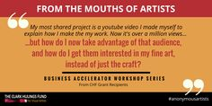 At CHF, we want to help you stretch your #business muscles - learn more! http://clarkhulingsfund.org/accelerator/ #anonymousartists