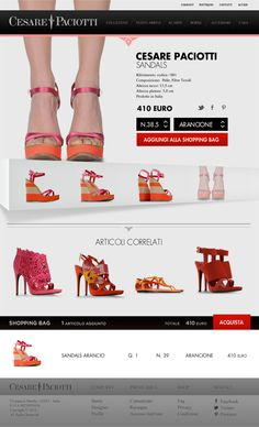 E-commerce // Cesare Paciotti // by La Ori, via Behance #webdesign #straypeople