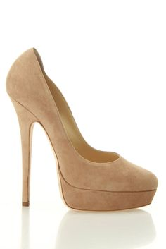 """jimmy choo eros suede pumps in nude - Here's me; """"Cute! Oh, of course they are. they're Jimmy Choos..."""""""