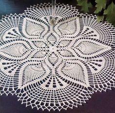 Beautiful Lace Doily Using White Cotton Thread