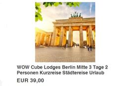 """Berlin: Zwei Nächte für zwei in den Cube-Lodges für 39 Euro http://www.discountfan.de/artikel/reisen_und_bildung/berlin-zwei-naechte-fuer-zwei-in-den-cube-lodges-fuer-39-euro.php Das perfekte Last-Minute-Geschenk: Via Ebay gibt es jetzt einen Gutschein für die hippen """"Cube Lodges"""" in Berlin zum Preis von 39 Euro. Enthalten sind zwei Übernachtungen für zwei Personen inklusive Gratis-WLAN und Parkplatz. Berlin: Zwei Nächte für zwei in den Cube-Lodges für"""