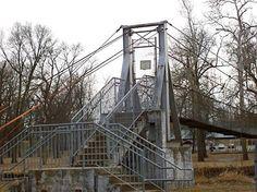 The Swinging Bridge, Belvidere Township Park, January 2, 2014