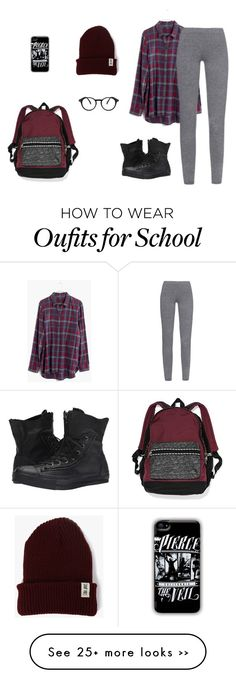 """School Look Book"" by that-fangirl-u-luv on Polyvore featuring Madewell, MaxMara, Converse, See Concept and Victoria's Secret"
