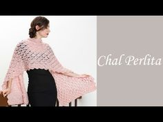 Cómo tejer fácil un chal elegante - Chal perlita Alize - Estambres Karina - YouTube Crochet Box, Crochet Poncho, Crochet Scarves, Crochet Dolls, Crochet Clothes, Crochet Stitches, Prayer Shawl Patterns, Bolero Pattern, Crochet Shawls And Wraps