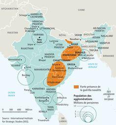 L'inde déstabilisée par la guérilla naxalite, par Philippe Rekacewicz (Le Monde diplomatique, décembre 2007 - Version 2011)
