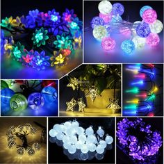 Fairy lights to line the wagon  Multi-Outdoor-Solar-Battery-Xmas-Tree-Garden-Party-String-Fairy-Decor-Light-Lamp
