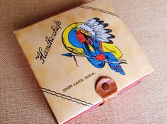 Handkerchief Souvenir Box From Cass Lake Minnesota by OldLikeUs