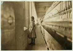 Rhodes Mfg. Co., Lincolnton, N.C. Spinner. A moments glimpse of the outer world Said she was 10 years old. Been working over a year.  Location: Lincolnton, North Carolina. (LOC) by The Library of Congress, via Flickr