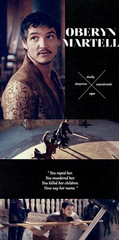 Prince Oberyn Martell - Make him say her name, Oberyn! Ohhh gosh I am not emotionally prepared for this scene...