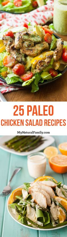 I love these ideas for main dish Paleo chicken salads. I've found that salads and soups are the best way to lose weight on the Paleo diet.