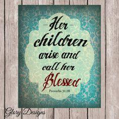 Bible Verse Proverbs 31 Set diy Proverbs 3110 28 by glorydesigns