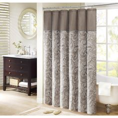 Madison Park Whitman Jacquard Faux Silk Shower Curtain - Overstock™ Shopping - Great Deals on Madison Park Shower Curtains