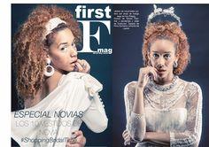 """Vestido de moda de Arquímides Llorens en el numero de la revista """"First F Mag"""""""