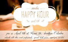 TBS Vendor Happy Hour: April 2013  http://www.thebridalsolutionllc.com/2013/03/tbs-vendor-happy-hour-april-2013.html
