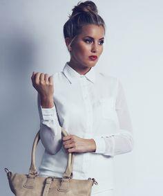 White Layered Sheer Shirt - Caggie's Wardrobe | ISWAI I Love Fashion, Womens Fashion, Made In Chelsea, Sheer Shirt, Hair Inspiration, Makeup Looks, Layers, Hair Color, Hair Beauty