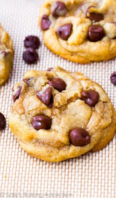 THE chocolate chip cookie recipe - this is the only chocolate chip cookie recipe you will need! They are soft and thick in the middle and chewy on the edges.