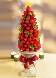 strawberry X-mas tree