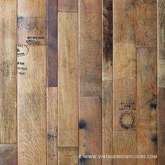 The Vintage Wood Floor Company Vintners Collection: Coopersmark Barrel Oak flooring from reclaimed Nappa Valley Wine Barrels