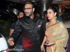 Kajol And Ajay Devgan At Singer Raghav Sachar Actress Amita Pathaks Wedding