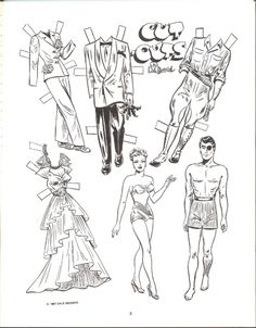 Brenda Starr & the Mystery Man paper dolls to color