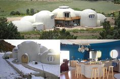 Shangri-La Dome Home    Location: Aguilar, Colorado  Price: $350,000  Bed: 6 Bath: 2 Sq. ft: 4413    Claim to Fame: An ultra-efficient fireplace heats the home to nearly 70 even in sub-freezing temperatures.