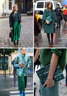 Color Clash : Emerald and Teal Fashion