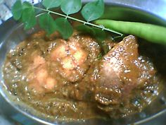 Gongura fish curry (fish curry with sorrel leaves)