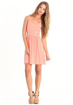 Lunette Neon Orange Dress by BB Dakota #threadsence #fashion