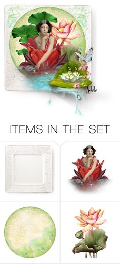 """""""water lilies"""" by adelemarano ❤ liked on Polyvore featuring art, polyvorecommunity, artset, polyvoreeditorial, topset and artexpression"""