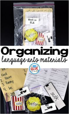 This is what I found to work best for me to organize language arts materials. I hope that you can take something from it to help you better organize your room. via @dabofgluewilldo