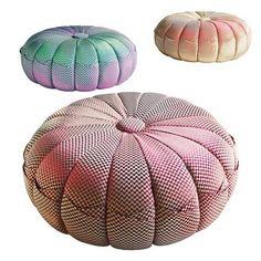 Missoni pouffes.  Love the colors.