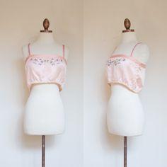 b5294ec2786ae9 vintage 1920s silk bralette by inheritedattire Pink Satin