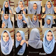 Are You Veiled ? Here are 20 Styles Of Hijab Fashion And Modern - Best Newest Hairstyle Trends : Are You Veiled ? Here are 20 Styles Of Hijab Fashion And Modern Modern Hijab Fashion, Islamic Fashion, Muslim Fashion, Square Hijab Tutorial, Hijab Style Tutorial, Hijab Mode Inspiration, Hijab Dress, Hijab Outfit, Muslim Dress