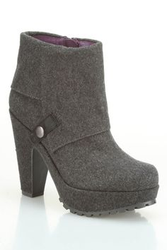 Blowfish Vamp High Heel Bootie In Gray