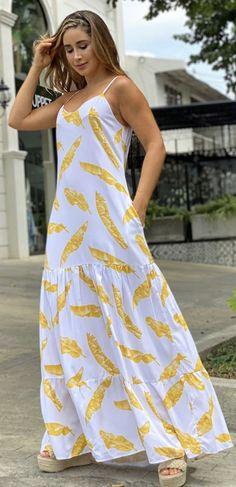 Jumpsuit Dress, Dress Up, Cotton Gowns, Elegant Maxi Dress, Beachwear, Ideias Fashion, Summer Outfits, Fashion Dresses, Street Style