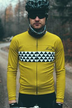 Long Sleeve Mens Cycling Jersey from Mack Cycling // Nice. #rideinstyle #bicyclelove #wishlist