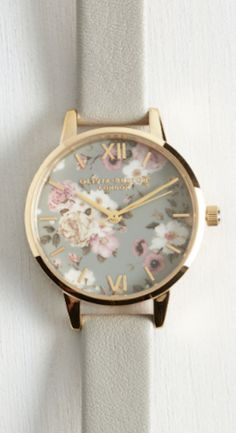 sweet floral faced watch