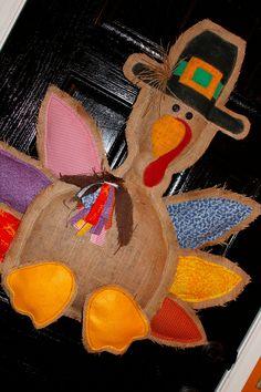 Thanksgiving door hanger Turkey Door Hanger fall by Cutipiethis