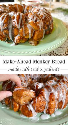 Easy overnight make ahead monkey bread recipe that uses real ingredients and rises overnight to bake fresh in the morning. Our Christmas morning tradition!