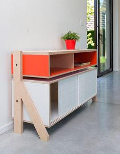 Find a range of cabinets, sideboards and cupboards and more storage solutions for your home or design project. Shop now on Clippings - where leading interior designers buy furniture and lighting! Plywood Furniture, Cool Furniture, Modern Furniture, Furniture Design, Table Cafe, Higher Design, Furniture Inspiration, Wood Design, Online Furniture