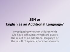 PowerPoint based on LA training. Information on normal language development, and barriers to acquisition of English as a second/additional language. To be used in conjunction with How language usually develops form.
