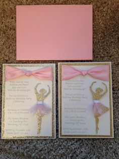 Looking for an elegant and stunning ballerina birthday invite? Why not send out these beautiful invitations!!! Made of premium card stock,