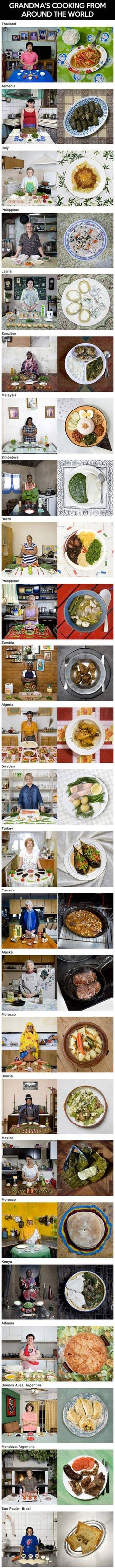 Geeky photographer captures the favorite dishes of grandmothers from around the world.