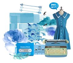 """""""Blue."""" by elleove ❤ liked on Polyvore featuring CASSETTE and Flight 001"""