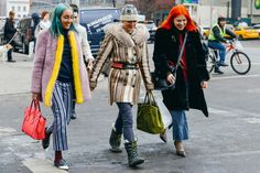 The gray skies at NYFW this season couldn't compete with these boldly colored locks