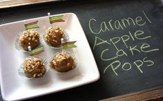Caramel Apple Cake Pops