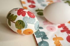 Vajíčka ubrousková technika