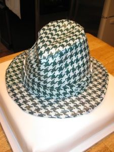 Bear Bryant Houndstooth Hat cake ROLL TIDE!